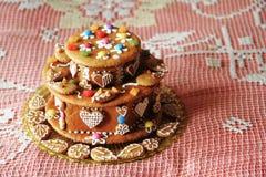 gâteau de pain d'épice d'anniversaire Image stock