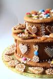 gâteau de pain d'épice d'anniversaire Photographie stock libre de droits