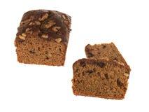 Gâteau de pain de datte et de noix photographie stock
