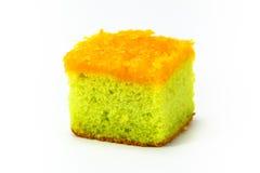 Gâteau de Pandan avec la lanière de foi images libres de droits