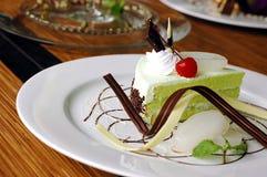 Gâteau de Pandan de dessert Photo stock