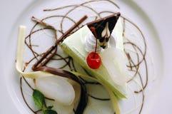 Gâteau de Pandan de dessert Images stock