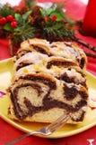 Gâteau de pavot pour Noël Image libre de droits
