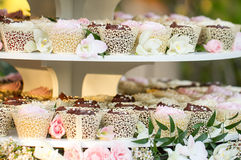 Gâteau de petit gâteau de mariage Photographie stock libre de droits