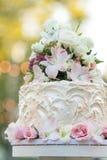 Gâteau de petit gâteau de mariage Photos stock