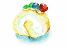 Gâteau de petit pain avec la baie Photographie stock libre de droits