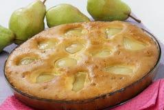Gâteau de poire Image libre de droits