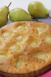 Gâteau de poire Photographie stock libre de droits