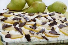 Gâteau de poire Photo libre de droits