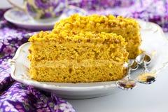 Gâteau de potiron image libre de droits
