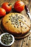 Gâteau de potiron Images libres de droits