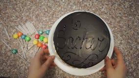 Gâteau de préparation de bougie banque de vidéos