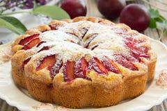 Gâteau de prune. Photos stock