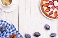 Gâteau de prune Photographie stock