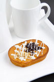 Gâteau de puces de Choco Images libres de droits
