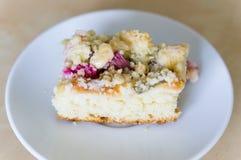 Gâteau de rhubarbe Photographie stock libre de droits