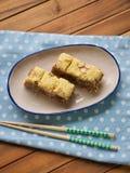 Gâteau de riz coréen de nourriture photographie stock