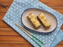 Gâteau de riz coréen de nourriture images stock