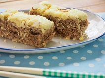 Gâteau de riz coréen de nourriture photos stock