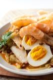 Gâteau de riz de ketupat de lontong de cuisine de l'Asie Photo libre de droits
