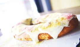 Gâteau de roi de mardi gras Images libres de droits