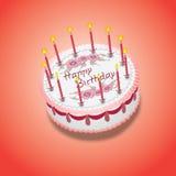 Gâteau de rose d'anniversaire Images libres de droits