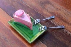 Gâteau de rose de Valentine Photographie stock