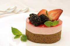 Gâteau de rose et de brun Photos stock