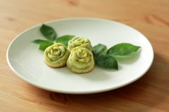 Gâteau de Rose Madeleine photographie stock libre de droits