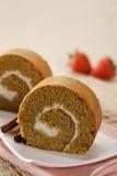 Gâteau de roulis photographie stock