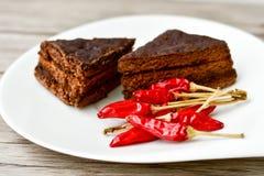 Gâteau de Sacher Vienne de chocolat Image libre de droits