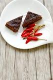 Gâteau de Sacher Vienne de chocolat Images libres de droits