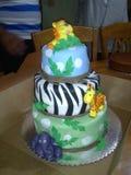Gâteau de safari Images libres de droits