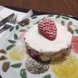 Gâteau de short de fraise Photos libres de droits