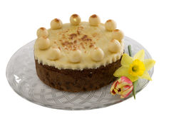 Gâteau de Simnel Photographie stock libre de droits