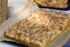 Gâteau de streusel Photographie stock