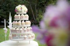 Gâteau de tasse Photos libres de droits