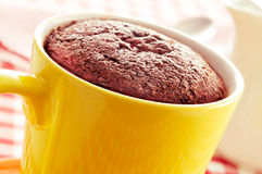Gâteau de tasse de chocolat photo stock