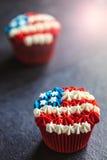 Gâteau de tasse de drapeau américain Photos libres de droits