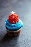 Gâteau de tasse de drapeau américain Image libre de droits