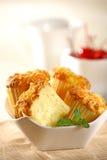 Gâteau de tasse de fromage Photos libres de droits