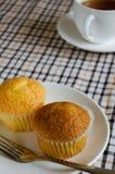 Gâteau de tasse pour la pause café images libres de droits