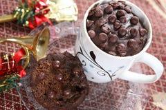 Gâteau de tasse de thé, gâteau de chocolat, chocolat Eni Rotti Photo libre de droits