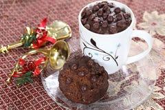 Gâteau de tasse de thé, gâteau de chocolat, chocolat Eni Rotti Photos libres de droits