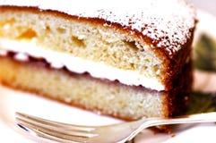 Gâteau de thé Photos stock