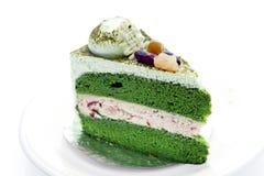 Gâteau de thé vert Photographie stock libre de droits