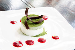 Gâteau de thé vert photos libres de droits