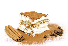 Gâteau de Tiramisu Photos stock