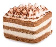 Gâteau de Tiramisu Photos libres de droits