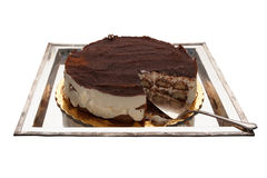 Gâteau de tiramisu Images libres de droits